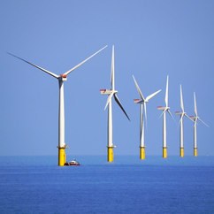 The Climate Change Committee (CCC) said switching to wind and nuclear rather than gas could save £45bn. (Photo: Walney Wind Farm © Copyright David Dixon and licensed for reuse under Creative Commons Licence)