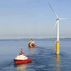 Five turbines with a total power of 30 megawatts will be installed off the Aberdeenshire coast in 100 metres of water.