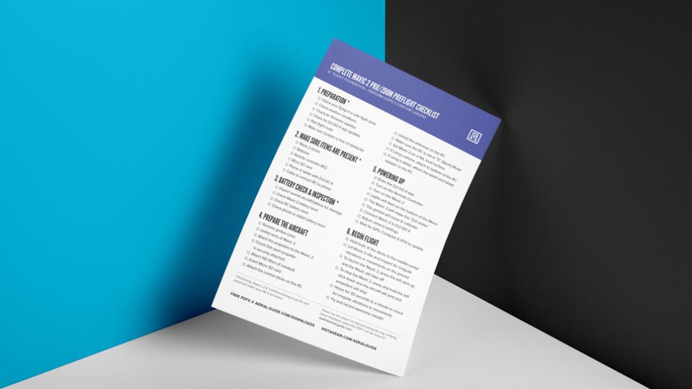 Complete Mavic 2 Pro/Zoom Pre-Flight Checklist Banner Image