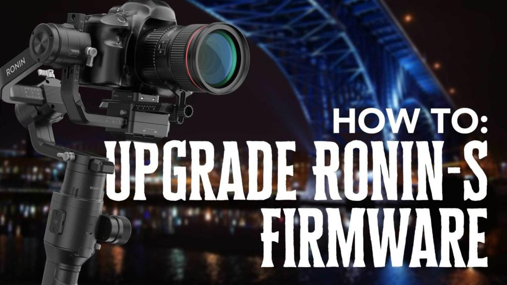 How to Update Ronin-S Firmware with DJI Assistant Banner Image