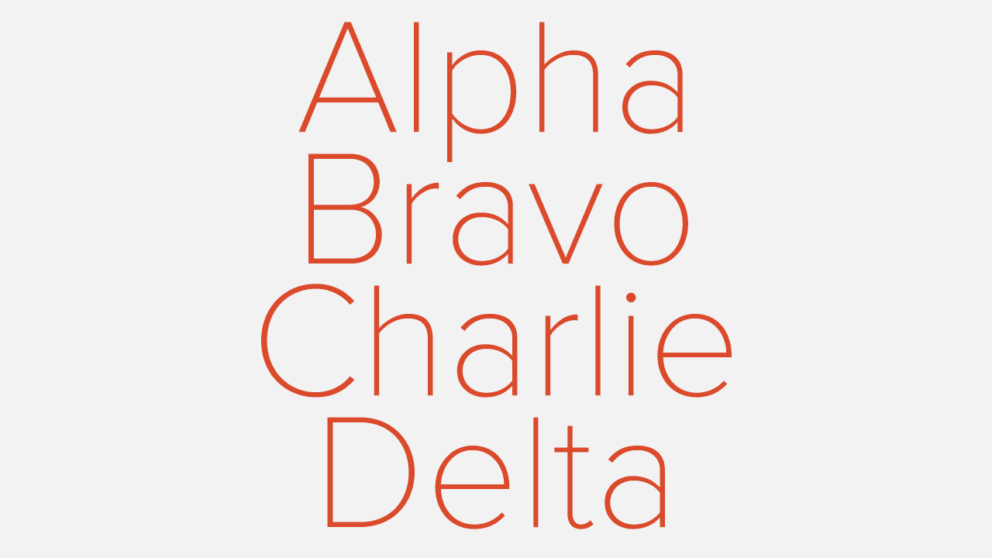 Learning the Nato Phonetic Alphabet: Alpha, Bravo | Aerial Guide