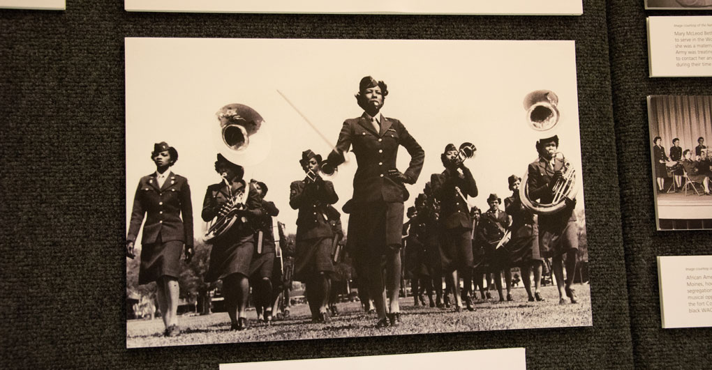 Black women in military band