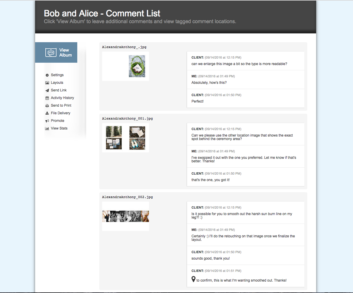 Comment List View