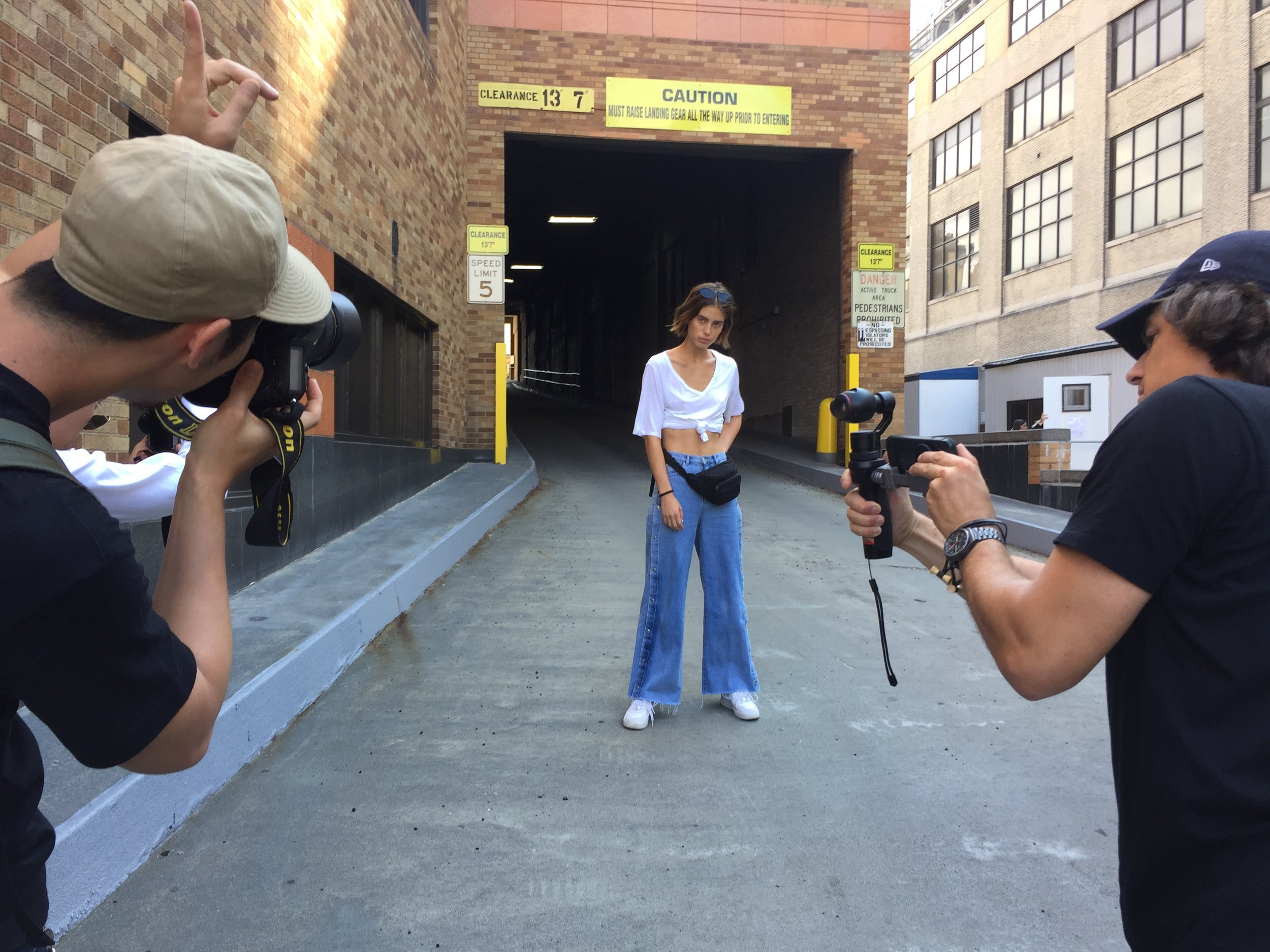Video Crew-filming model
