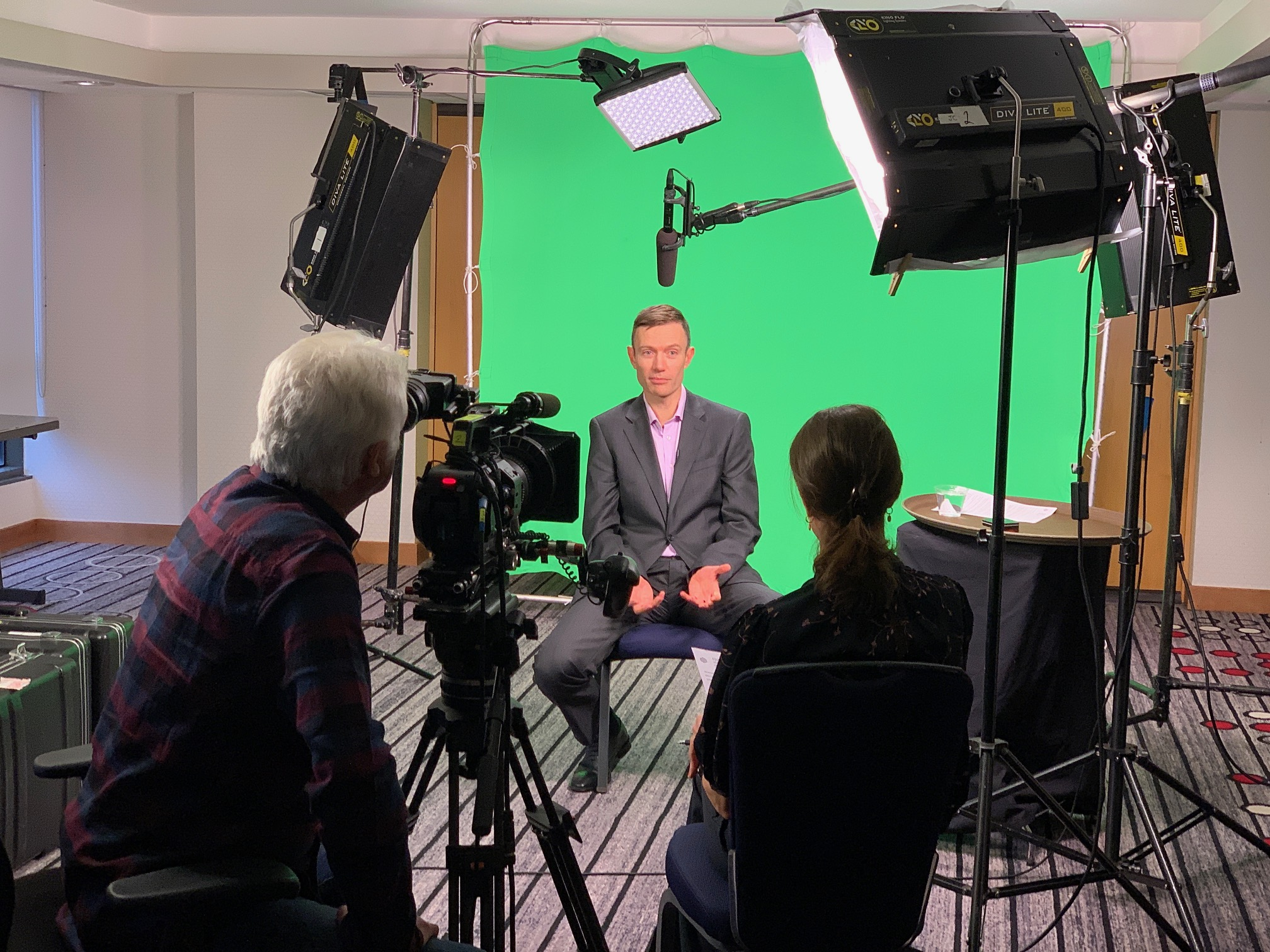 Tips for Lighting Green Screen Interviews | Assignment Desk Blog