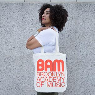 BAM Retro Logo Poppy Baggu Tote, $20