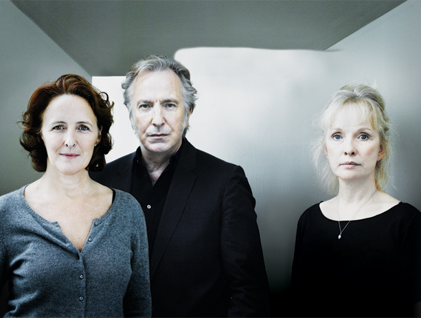 Fiona Shaw, Alan Rickman, and Lindsay Duncan in John Gabriel Borkman