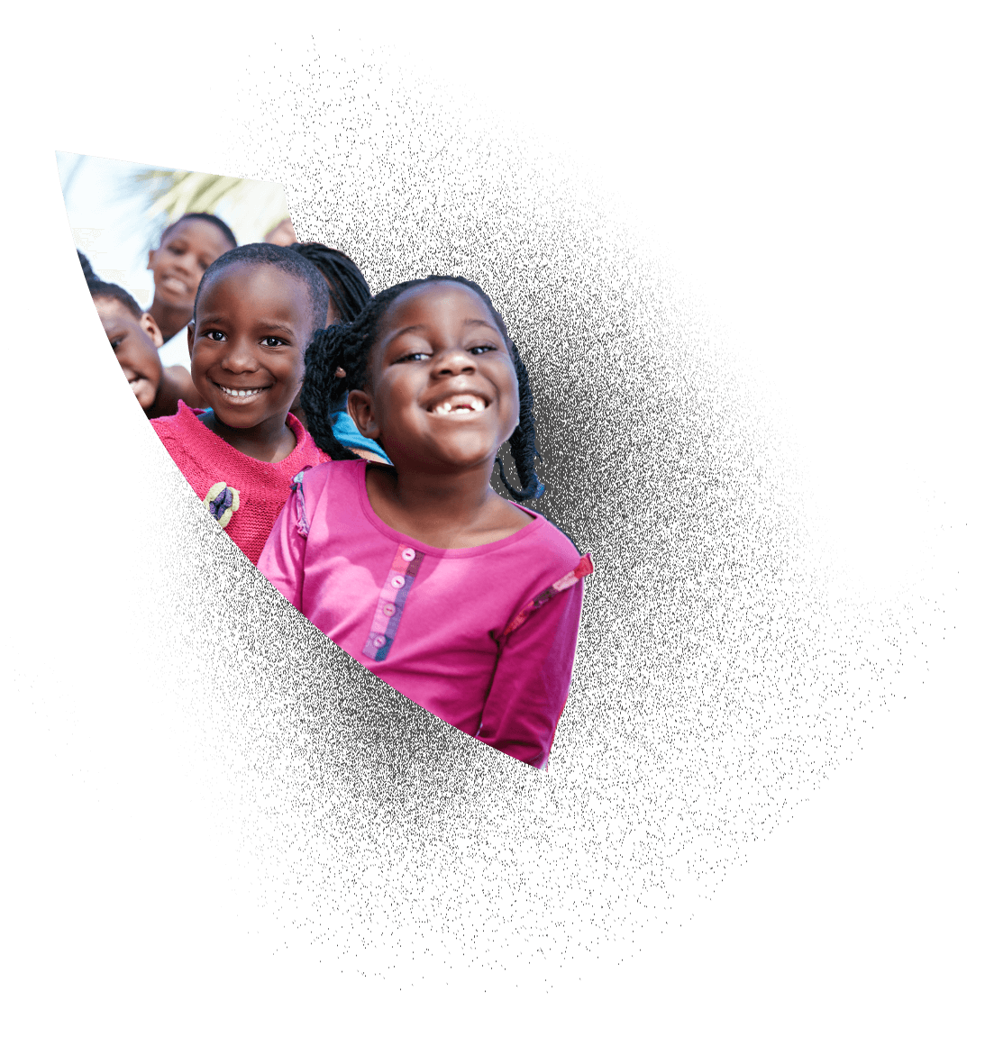 African children happily receiving donations from BarterPay