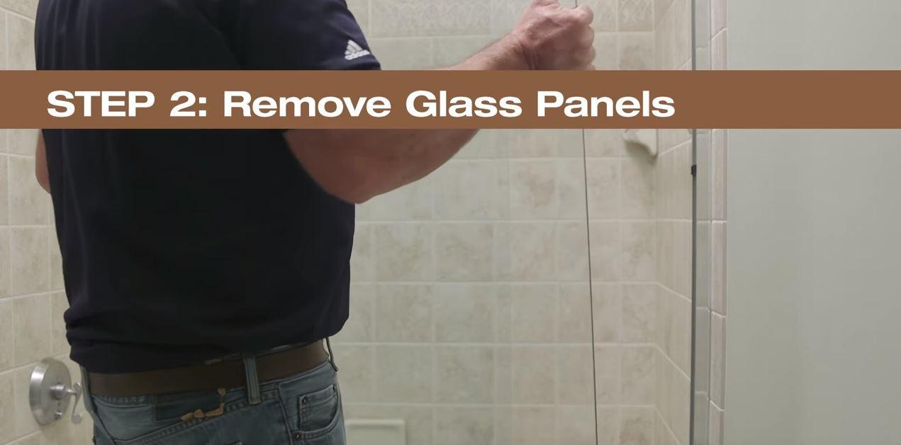 2  Remove Glass Panels