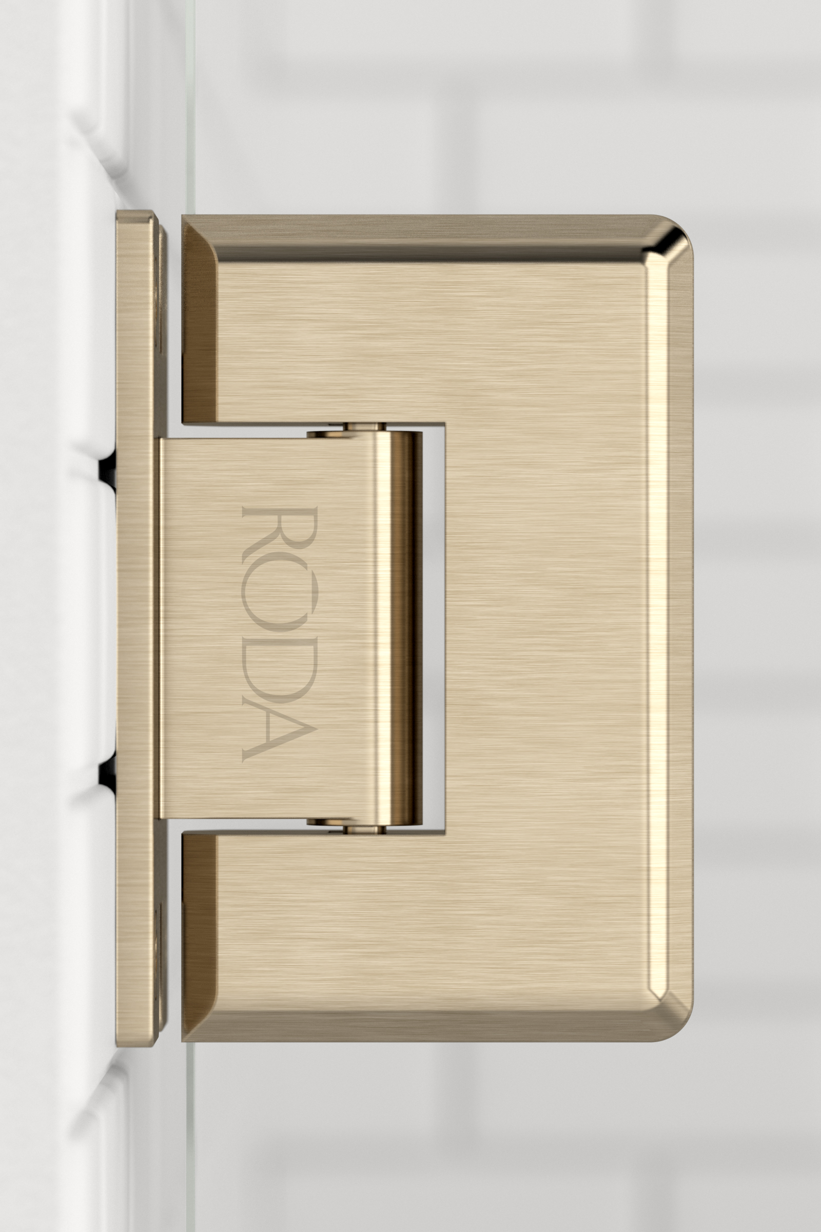 Roda  Hinge  Brushed Bronze 01
