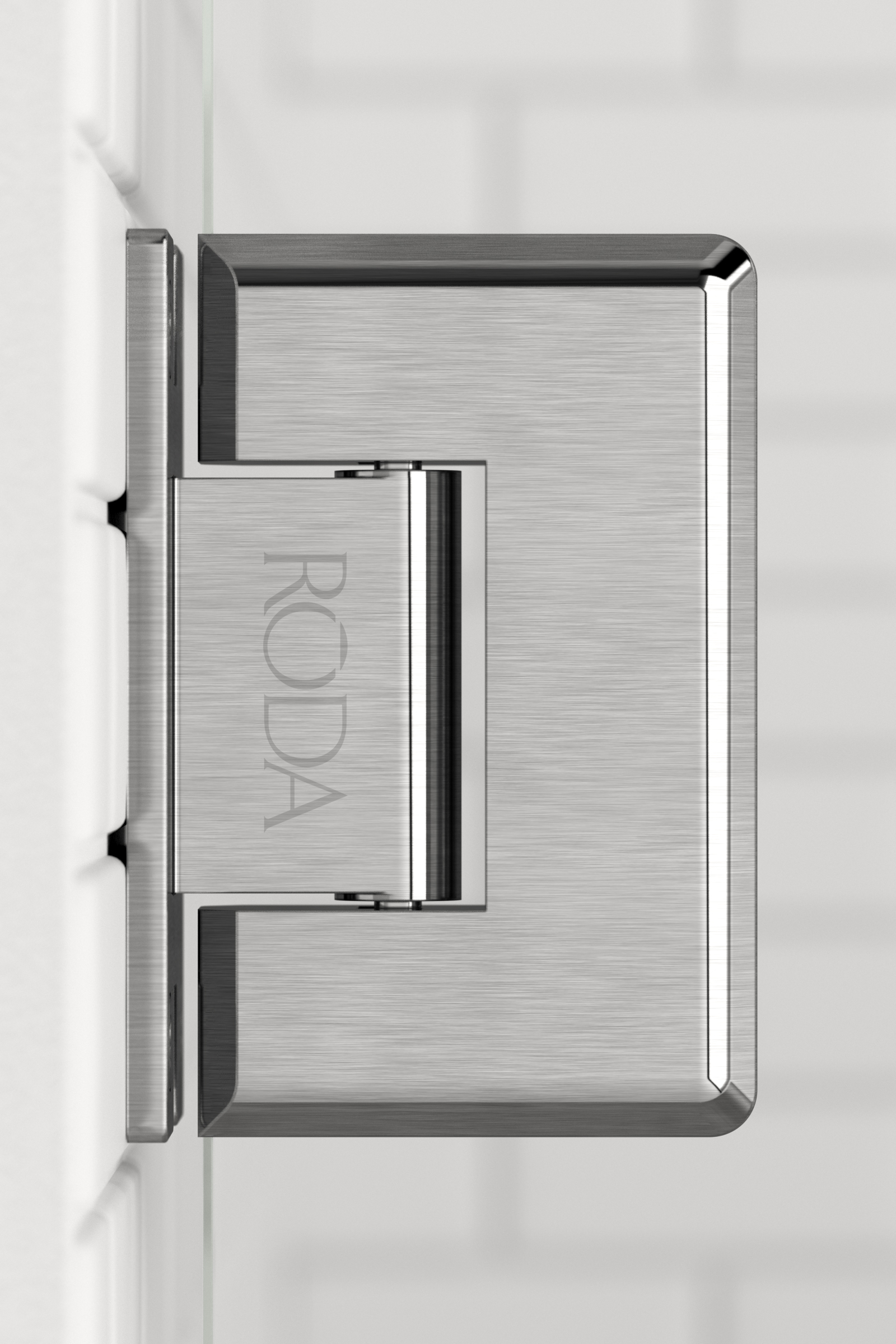 Roda  Hinge  Brushed Stainless Steel 01