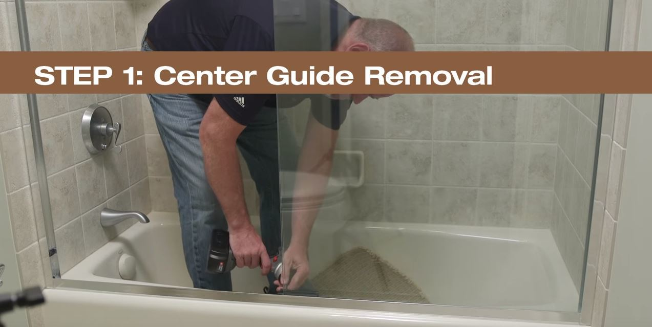 Step 1  Center Guide Removal