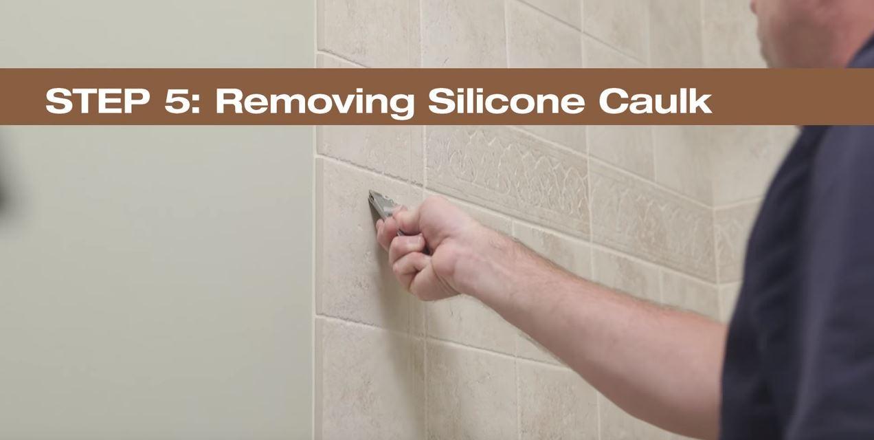 Step 5  Removing Silicone Caulk