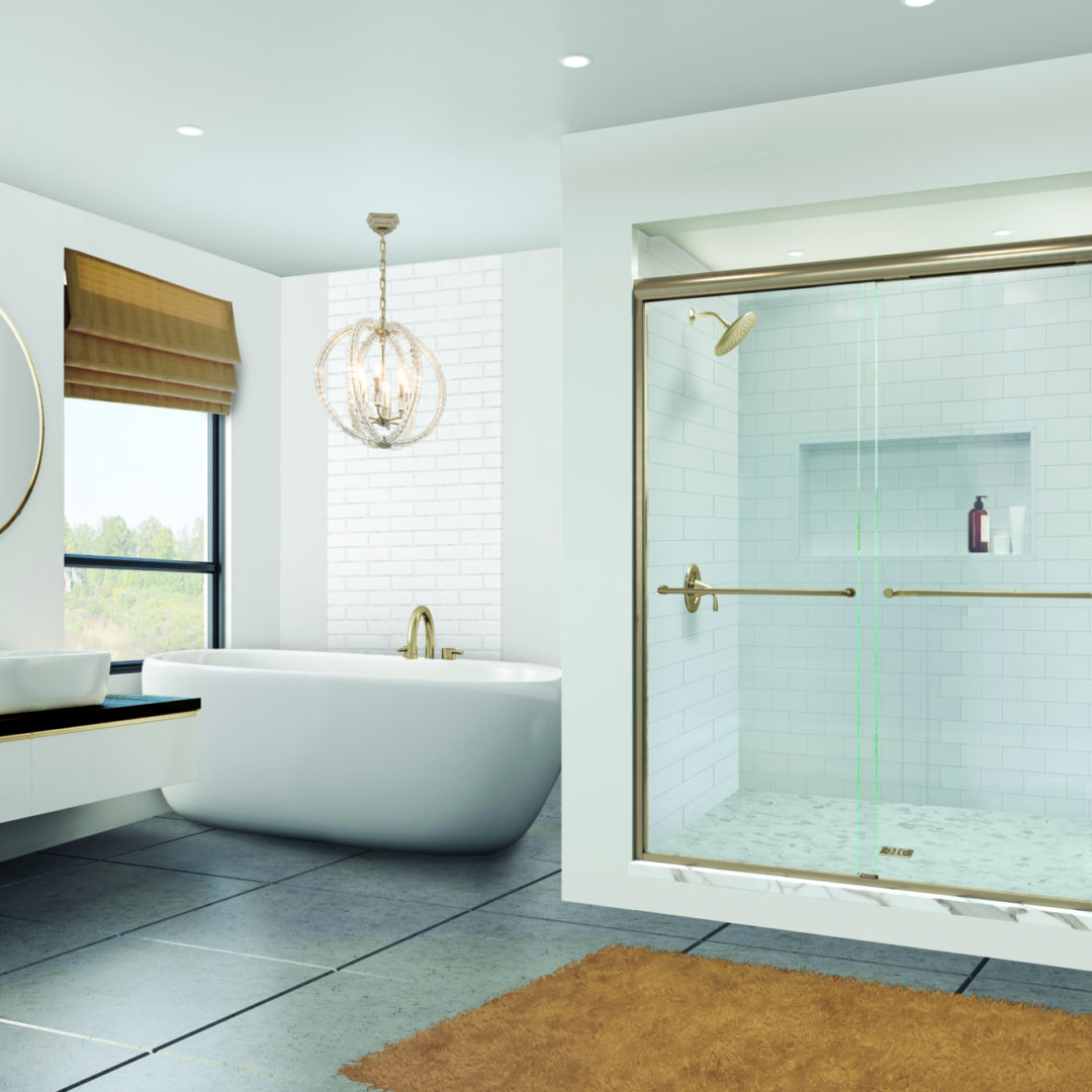 Shower Door Trends: Brushed Gold