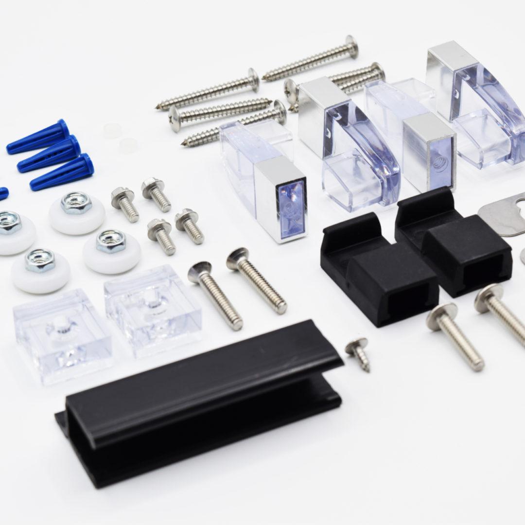 Basco framed sliding tub & shower door parts (Deluxe)