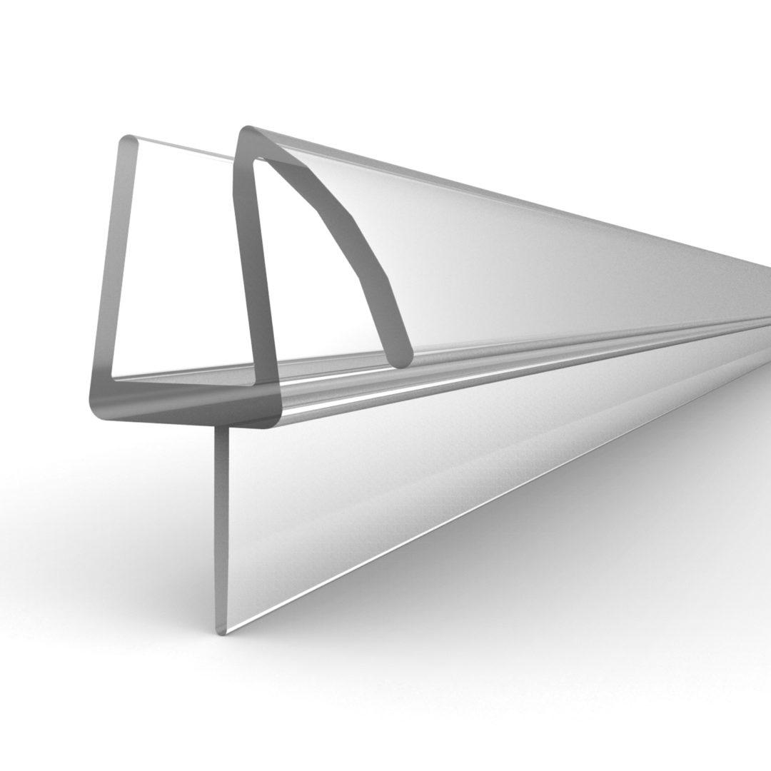 """Basco 1/4 inch shower door sweep door and panel (3/4"""" x 38-3/8"""") (Infinity)"""