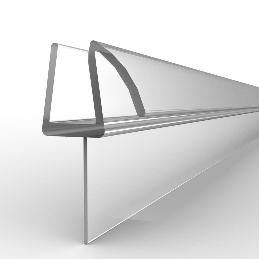 """Basco 1/4 inch shower door sweep 38 inches (1"""" x 38"""") (Infinity)"""