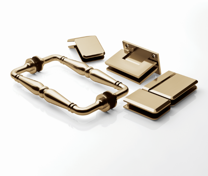 Basco Shower Doors Launches Contemporary New Brushed Gold Finish