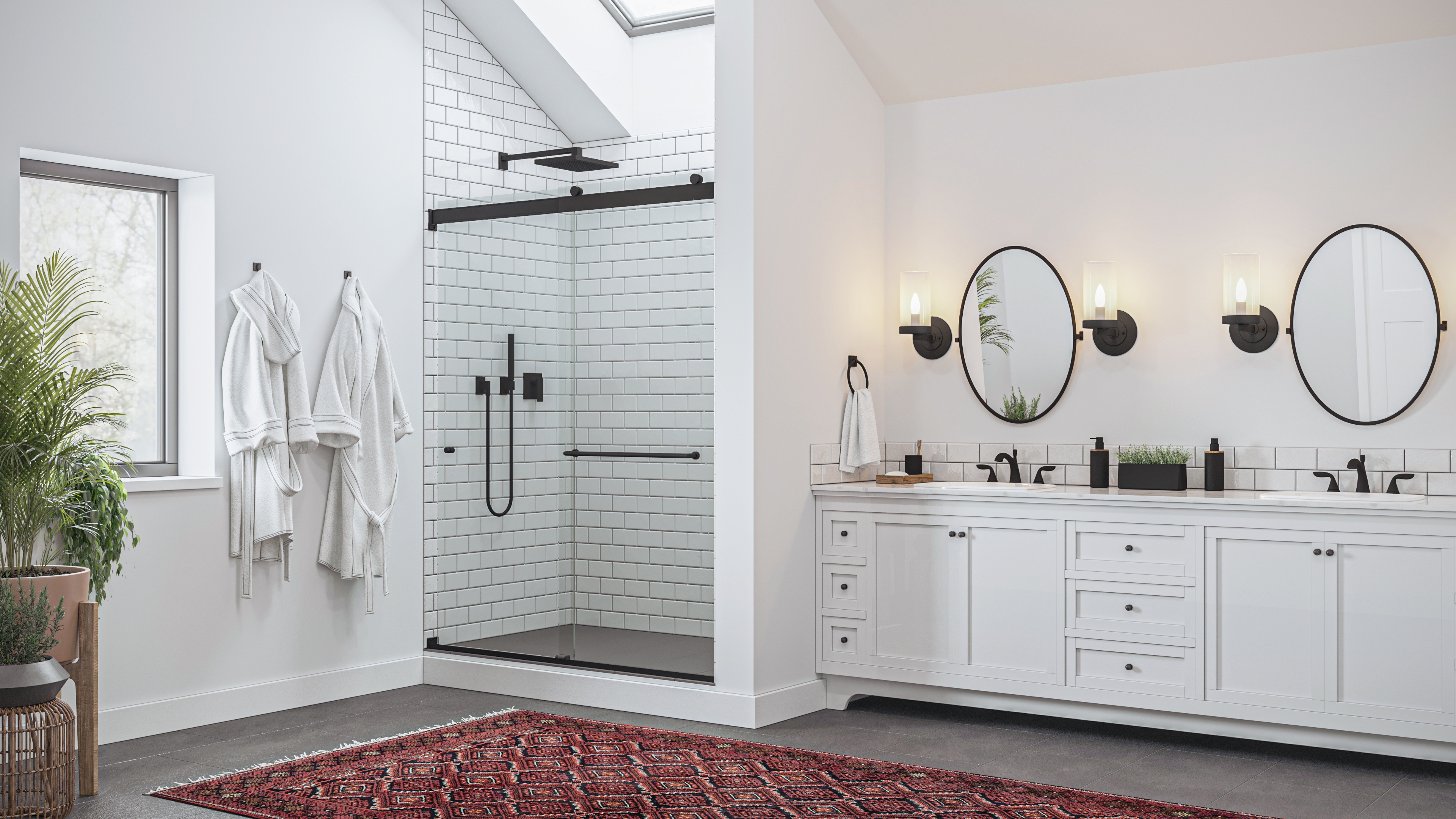 Basco Rotolo Lux full shower matte black FINAL