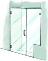 Door & Inline Notched Panel - 935