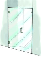Door & Panel Shower Door-935