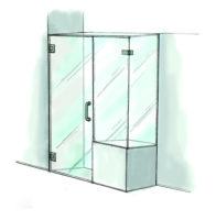Door, Panel & Return on Buttress Shower Door- 950