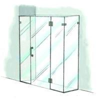 Door, Panel & Return with Extra Panel - 950