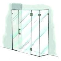 Door, Panel & Return with Extra Panel - 950