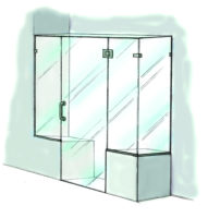 Door, Panel & Return Extra Panel on Buttress-950