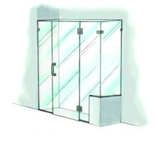 Door, Panel, & Return with Extra Panel Notch & Buttress-950