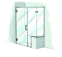 Door, Panel & Return with Notch and Buttress Panel - 950
