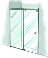 Fixed Panel Rolling Shower Door-935