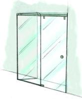 Fixed with Rolling Door and Return Shower Door-950