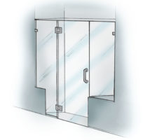 Panel/Door/Panel with Notch & Buttress - 925