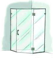 Neo Angle Shower Door - 960