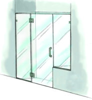 Panel/Door/Panel with Buttress - 925
