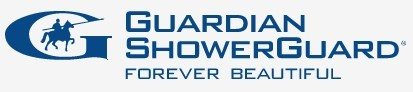 Logo Shower Guard Clear