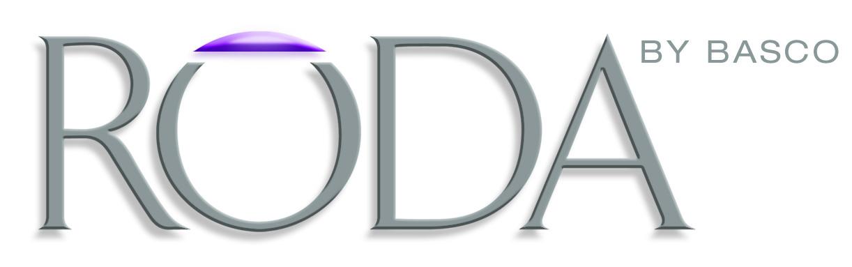 Roda Logo 3-D White