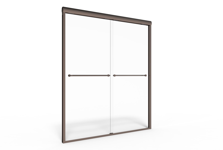 Celesta Semi-Frameless 3/8-inch Glass Sliding… | Basco Shower Doors