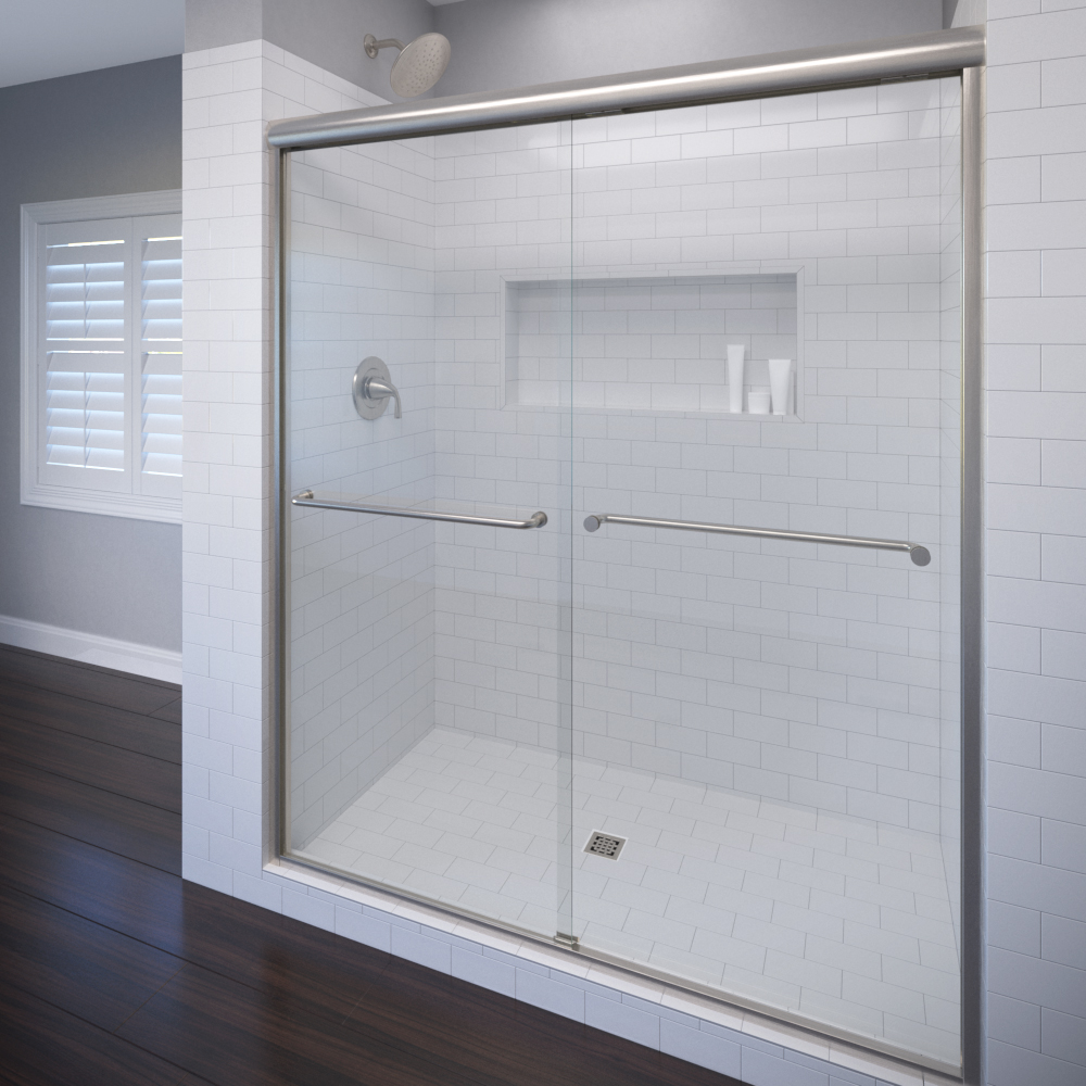 Celesta Semi-Frameless 3/8-inch Glass Sliding… | Basco Shower Doors