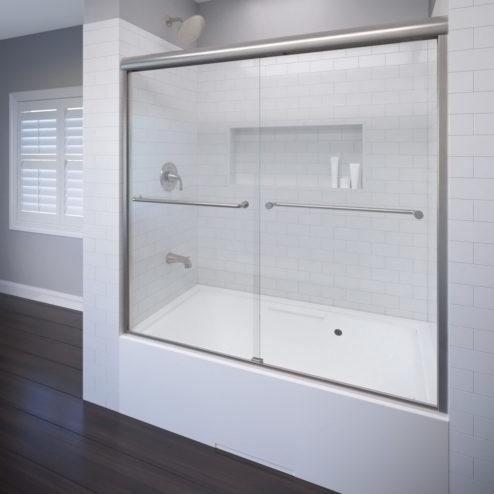 Celesta Semi-Frameless 3/8-inch Glass Sliding Bath Tub Door
