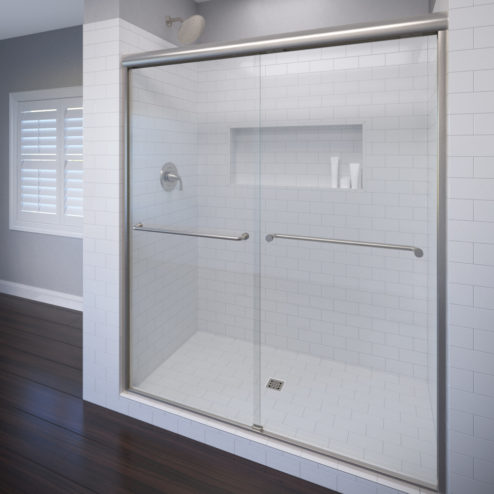 Celesta Semi-Frameless 3/8-inch Glass Sliding Shower Door