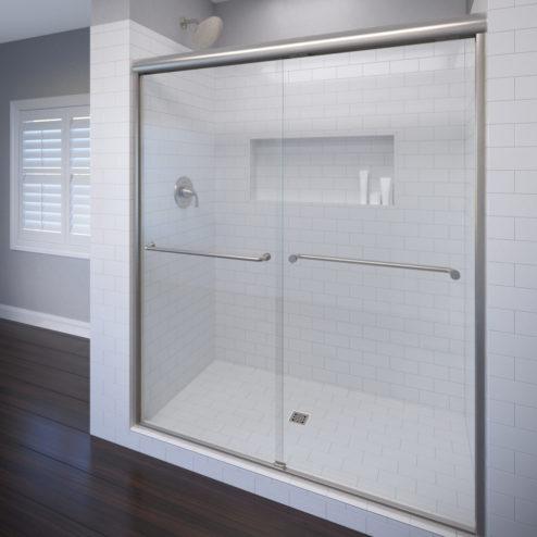 Celesta Semi-Frameless 3/8-inch Glass Sliding Shower Door