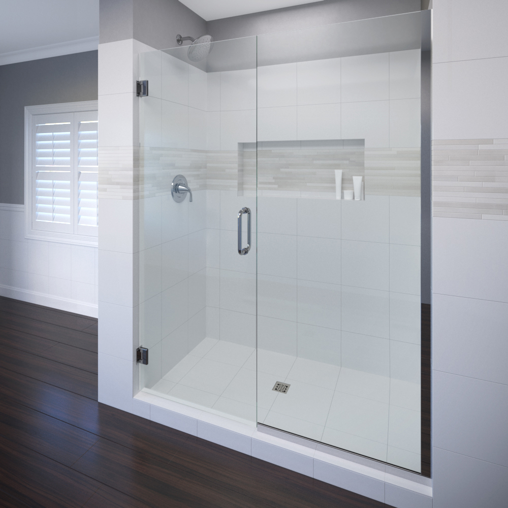 Celesta frameless 38 inch glass swing door basco shower doors celesta frameless 38 inch glass swing door panel shower door planetlyrics Image collections