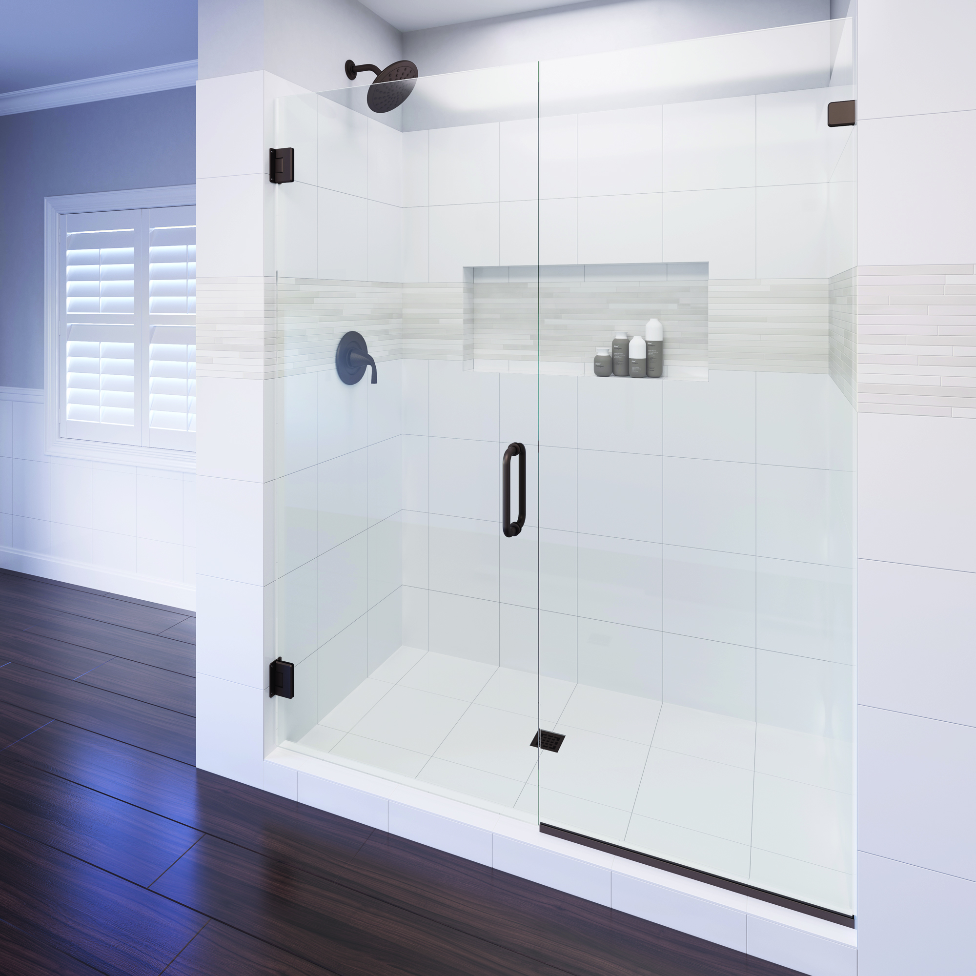 Celesta Frameless 3/8-inch Glass Swing Door &… | Basco Shower Doors