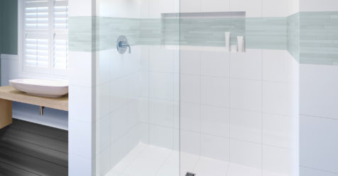 Celesta Frameless 3 8 Inch Glass Shower Screen Basco