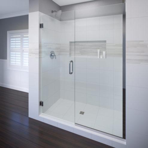 Celesta Frameless 3/8-inch Glass Swing Door & Panel Shower Door