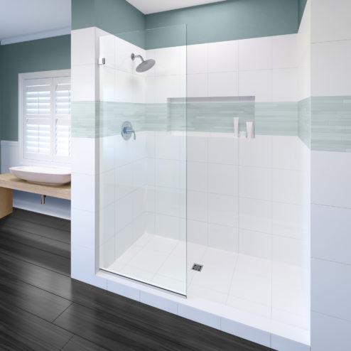 Celesta Frameless 3/8-inch Glass Shower Screen
