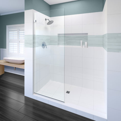 STANDARD SIZE Celesta Frameless 3/8 Inch Glass Shower Screen