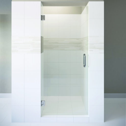 HEAVY GLASS LUXURY Celesta Frameless 3/8 Inch Glass Swing Shower Door